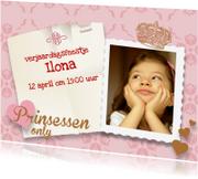 Kinderfeestjes - Prinses feestje uitnodiging