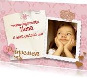 Kinderfeestjes - Prinses only uitnodiging