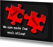 Liefde kaarten - puzzelstukjes