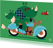 Ansichtkaarten - Rijbewijs, Motor - NK