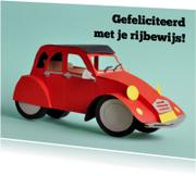 Geslaagd kaarten - Rode eend rijbewijs