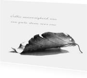 Rouwkaarten - Rouwkaart Gevallen Blad Bedankt