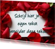 Liefde kaarten - Rozenkaart Vrije hand