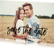 Trouwkaarten - Save the date tekst zwart