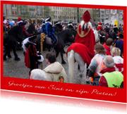 Sinterklaaskaarten - Sint en Piet intocht