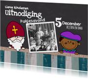 Sinterklaaskaarten - Sint fotokaart krijtbordlook
