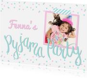 Kinderfeestjes - Slaapfeestje confetti foto roze