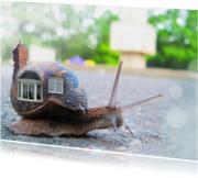 Verhuiskaarten - Slakkenhuisje verhuiskaart