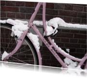 Ansichtkaarten - Sneeuw Fiets