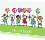 Sorry kaarten - Sorry ballonnen met poppetjes