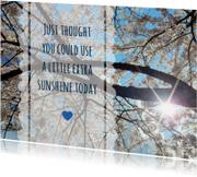 Sterkte kaarten - Sterkte sunshine bloesem