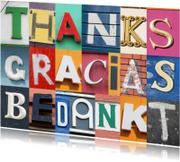Bedankkaartjes - Thanks gracias bedankt