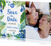Trouwkaarten - Tropical Save the Date
