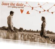 Trouwkaarten - Trouwkaart save the date sfeer