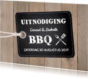 Uitnodigingen - Tuinfeest uitnodiging hout LB24