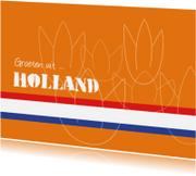 Vakantiekaarten - Typisch Hollands - tulpen 1