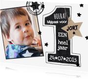 Kinderfeestjes - Uitnodiging 1 jaar sterren