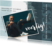 Uitnodigingen - Uitnodiging 40ste verjaardag met speelse indeling