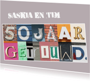 Jubileumkaarten - Uitnodiging 50jarig huwelijk