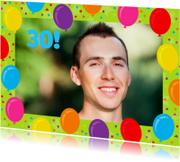 Uitnodigingen - Uitnodiging Balonnen Foto