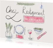 Uitnodigingen - Uitnodiging Chez Restaurant