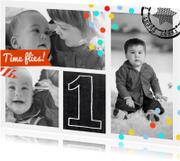 Kinderfeestjes - Uitnodiging Collage 1 jaar boy