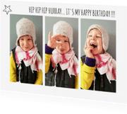 Kinderfeestjes - Uitnodiging Collage ster