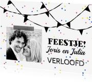 Jubileumkaarten - Uitnodiging feestje verloofd