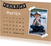 Kinderfeestjes - Uitnodiging foto kalender slinger kraftprint