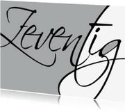 Uitnodigingen - Uitnodiging geschreven 70