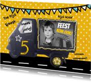 Kinderfeestjes - uitnodiging kinderfeest auto