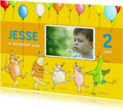 Kinderfeestjes - Uitnodiging-kinderfeest diertjes