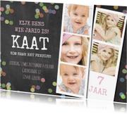 Kinderfeestjes - Uitnodiging krijtbord confetti a