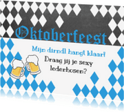 Uitnodigingen - uitnodiging oktoberfeest