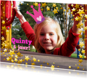 Kinderfeestjes - Uitnodiging Prinsessenfeest Eigen Foto