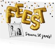 Uitnodigingen - Uitnodiging verjaardag feest ballonnen