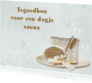 Wenskaarten divers - Uitnodiging voor een dagje sauna of spa