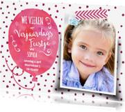 Kinderfeestjes - Uitnodiging waterverf ballon