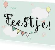 Kinderfeestjes - Uitnodigingskaartje