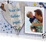 Vaderdag kaarten - Vaderdag HART hout Liefste Papa