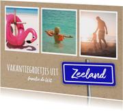 Vakantie - foto's en plaatsbord