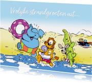 Vakantiekaarten - Vakantie Loeki & friends aan zee