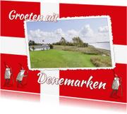 Vakantiekaarten - Vakantie - Vlag Denemarken