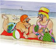 Vakantiekaarten - Vakantiekaart een dag aan het strand