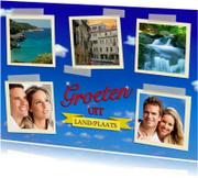 Vakantiekaarten - Vakantiekaart met zelf te kiezen bestemming
