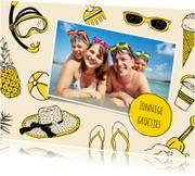 Vakantiekaarten - Vakantiekaart zonnige groet met foto