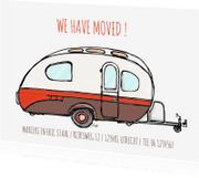 Verhuiskaarten - Verhuiskaart caravan Mostard