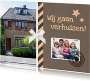 Verhuiskaarten - Verhuiskaart eigen foto stempels