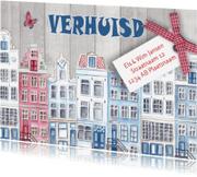 Verhuiskaarten - Verhuiskaart HUISJES Hollands