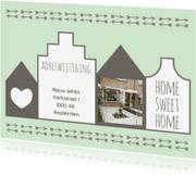 Verhuiskaarten - Verhuiskaart Huisjes - WW